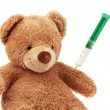Teddy bear with injection — Stock Photo #8291179