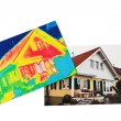 Energy savings. thermal imaging camera — Stock Photo