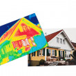 Energy savings. thermal imaging camera — Stockfoto