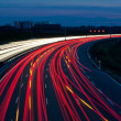 Cars on highway at night — Stock fotografie