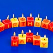 Royalty-Free Stock Photo: Candles happy birthday