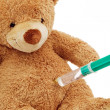 Teddy bear with injection — Stock Photo #8291937