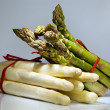 White and green asparagus — Stock Photo