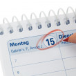 Royalty-Free Stock Photo: 15th one month in the calendar