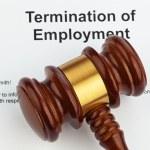 Termination by employer (english) — Stock Photo