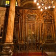 Egypt, cairo. mohammed ali mosque. the inside. - 图库照片