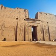 Egypt, edfu, horus temple - Stock Photo