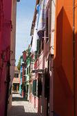 Italy, venice. island of burano — Stock Photo