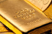 Investment in real gold — Stock Photo