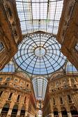 Galleria vittorio emanuele in milan — Stock Photo