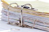 File folder with documents — Stock Photo