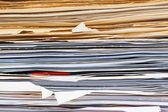 File folder with documents — Foto de Stock