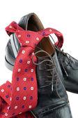 Men's shoes of a businessman — Foto de Stock