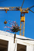 Same roof at construction site of a house — Stock Photo