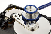 Data recovery hard disk of the computer — Stock Photo