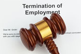 Termination by employer (english) — Stockfoto