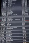 在机场的离境董事会 — 图库照片