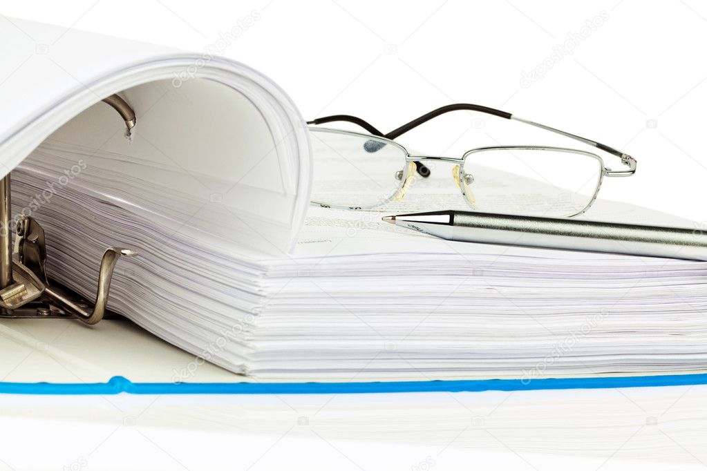 A file folder with documents and documents. retention of contracts.  Stock Photo #8291186