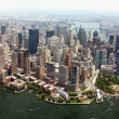 Aerial view of Lower Manhattan New York City — Stock Photo #8315231