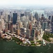 Aerial view of Lower Manhattan New York City — Stock Photo