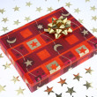 A red christmas present box - Stock Photo