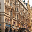Prague, beautifully renovated houses n the old tow — Stock Photo