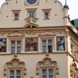 Royalty-Free Stock Photo: Prague, beautifully renovated houses n the old tow