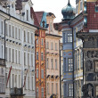 Prague, beautifully renovated houses n the old tow — Stock Photo #8318490