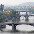 Bridges over the vltava river in prague — Stock Photo #8318553