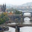 Bridges over the vltava river in prague — Stock Photo #8318564