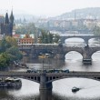 Bridges over the vltava river in prague — Stock Photo