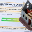 Stock Photo: Carcass home with energiepaa. certification for ge
