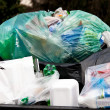 Separation of waste collection point for plastic w — Stock Photo