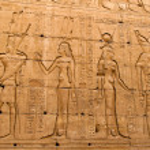 Egypt, edfu, horus temple — Stock Photo #8319948