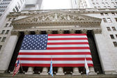 Usa, new york, wall street exchange — Stock Photo