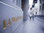 Borsa valori di new york, wallstreet, usa — Foto Stock