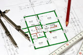 Blueprint of a house — Stock Photo