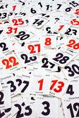 Calendar sheets — Stock Photo