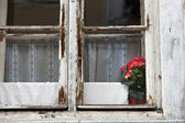Old wooden windows for renovation — Stock Photo