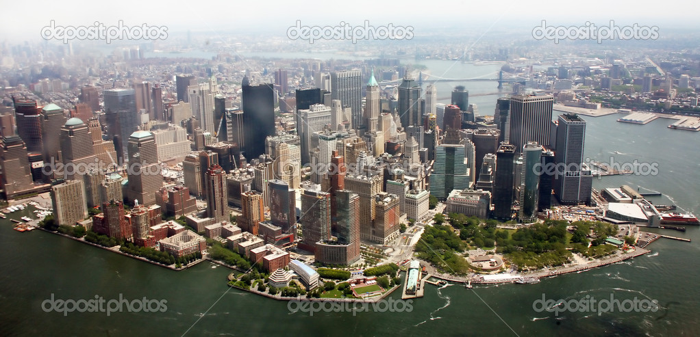 Aerial view of Lower Manhattan New York City  — Stock Photo #8315211