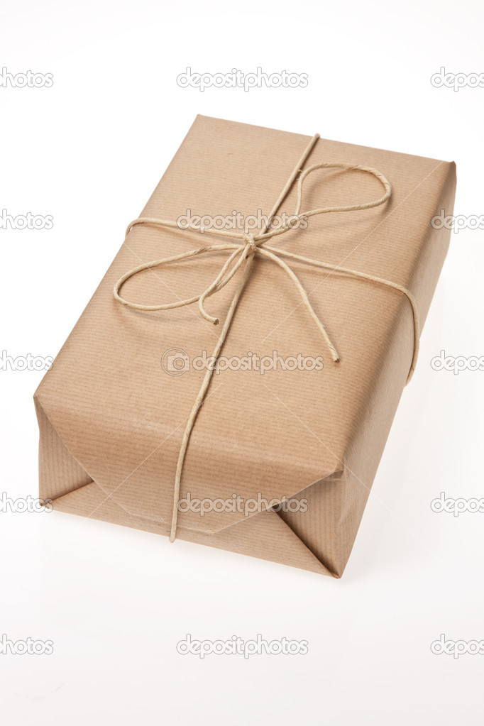 Package was delivered with cord — Stock Photo #8316035