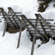 Stock Photo: Avalanche control to protect against avalanches