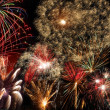Fireworks on new year's eve and new year — Stock Photo #8322053