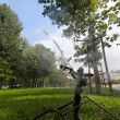Lawn watering in a park — Stock Photo