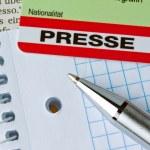 Press id of a journalist — Stock Photo #8322406