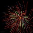 Fireworks on new year's eve and new year - Stock Photo