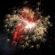 Fireworks on new year's eve and new year — Stock Photo #8329409