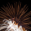 Fireworks on new year's eve and new year - Stockfoto