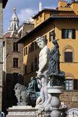 Italy, tuscany, florence. piazza della signoria — Stock Photo