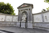 Monument to the poet franz grillparzer in vienna — Stock Photo